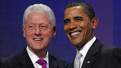 Bill Clinton a Barack Obama v roce 2009