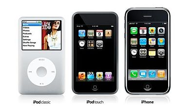 Dotykový iPod Classic, iPod Touch a iPhone v roce 2007